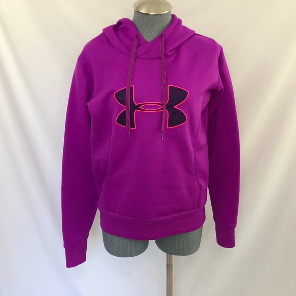 womens purple under armour hoodie